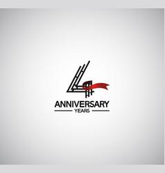 4 years anniversary logotype flat design vector