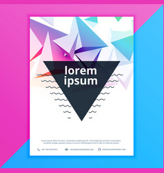 abstract 3d polygon brochure flyer poster template vector image