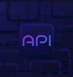 Api technology and software development vector