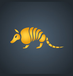 armadillo logo icon design vector image