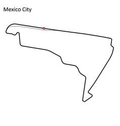 Autodromo hermanos rodriguez vector