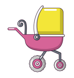 baby carriage tricycles icon cartoon style vector image