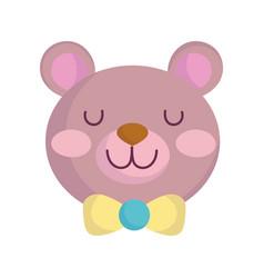 Bashower teddy bear toy announce newborn vector