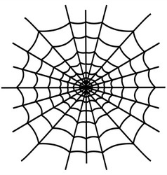 Black spiderweb isolated vector image