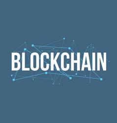 blockchain headline logo design vector image