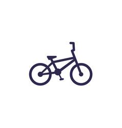 Bmx bike icon on white vector