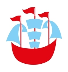Boat toy isolated icon design vector