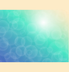 bokeh texture on a blue-green background vector image