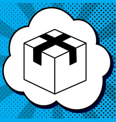 box sign black icon in vector image