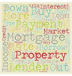 Buy to let mortgages long term investment on the vector image