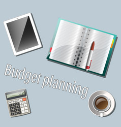 Cashflow management and financial planning vector