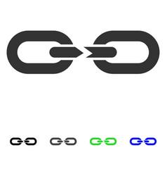 Chain break flat icon vector