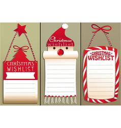 Christmas wish list vector image