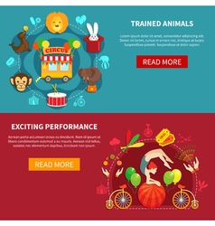 Circus banner set vector image