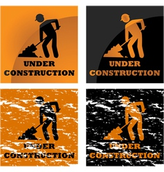 Construction signs vector