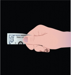 dollar hand icon vector image