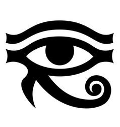 Eye horus ancient symbol pattern vector