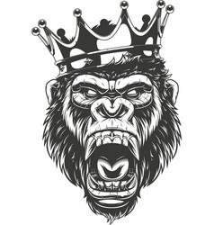 Ferocious gorilla head vector