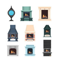 fireplace interior decor electric fireplace from vector image