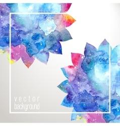 Flowers frame background vector