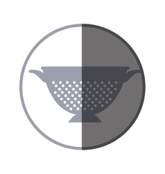 Fried pot kitchen tool isolated icon vector