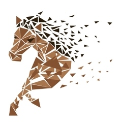 Galloping horse particles vector image