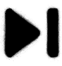 go to end media graffiti spray icon in black vector image