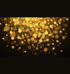 gold abstract bokeh background stardust vector image
