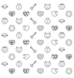 heart and love pattern vector image