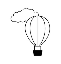 hot air balloon cloud vector image