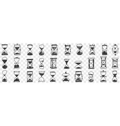 hourglasses in rows doodle set vector image
