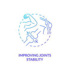 Improve joint stability blue gradient concept icon vector