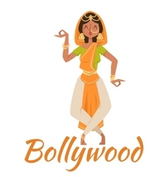 Indian Bollywood couple dancing vector image