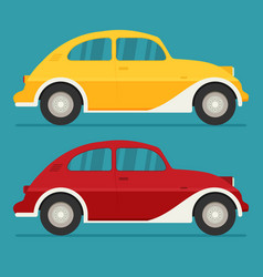 isolated cars flat design style vector image