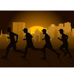 jogging in city vector image