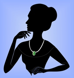 Lady in the necklace vector