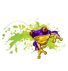 Little frog a cute little vector