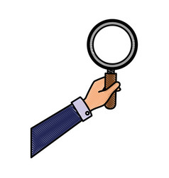 Lupe magnifying glass vector