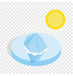 Melting iceberg isometric icon vector