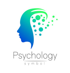 modern head sign of psychology profile human vector image
