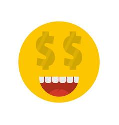 money smile icon flat vector image