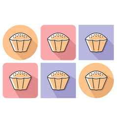 outlined icon cupcake with parallel and not vector image