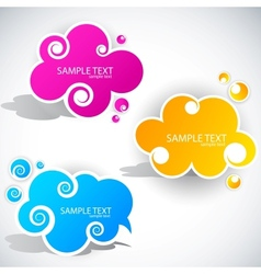 paper cloud bubble vector image
