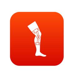 Retentive bandage icon digital red vector