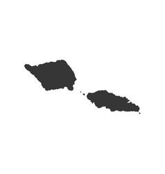 samoa map outline vector image