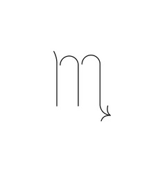 Scorpio line icon vector