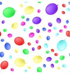 Seamless primitive background with party balloons vector