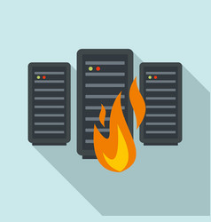 Server firewall icon flat style vector