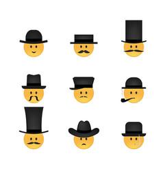 set emoticon vector image