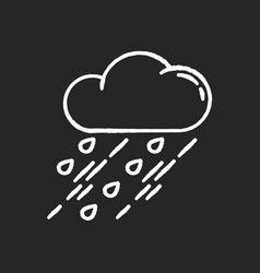 Showers chalk white icon on black background vector